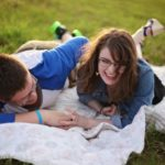 Couple laughing having fun together