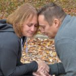 Emotional husband and wife